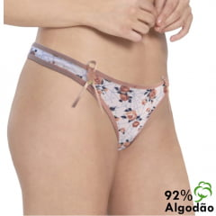 Kit com 3 calcinhas tanga de cotton